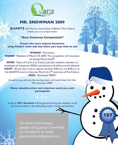 Snowman 2009 Cedars