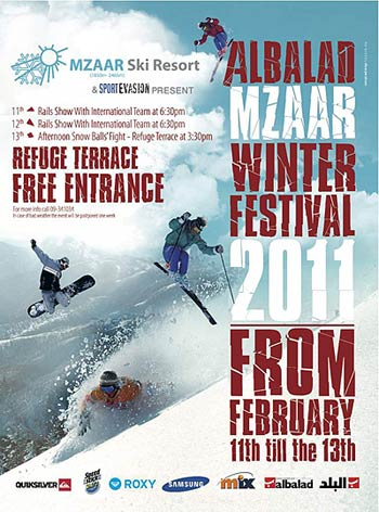 Mzaar Winter Festival Lebanon