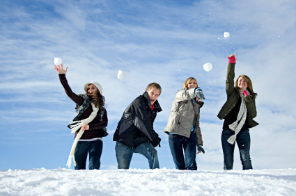 Snowball Fight Mzaar Lebanon
