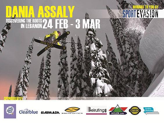Dania Assaly skiing in Lebanon