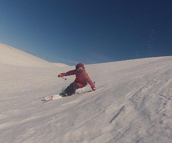 Dania Assaly skiing in Faraya Mzaar