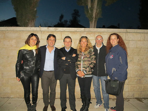 Dania Assaly with Sport Evasion team and officials