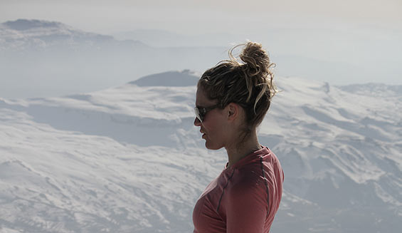 Dania Assaly looking at Mount Sannine