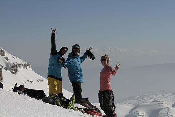 Dania with Lebanese riders